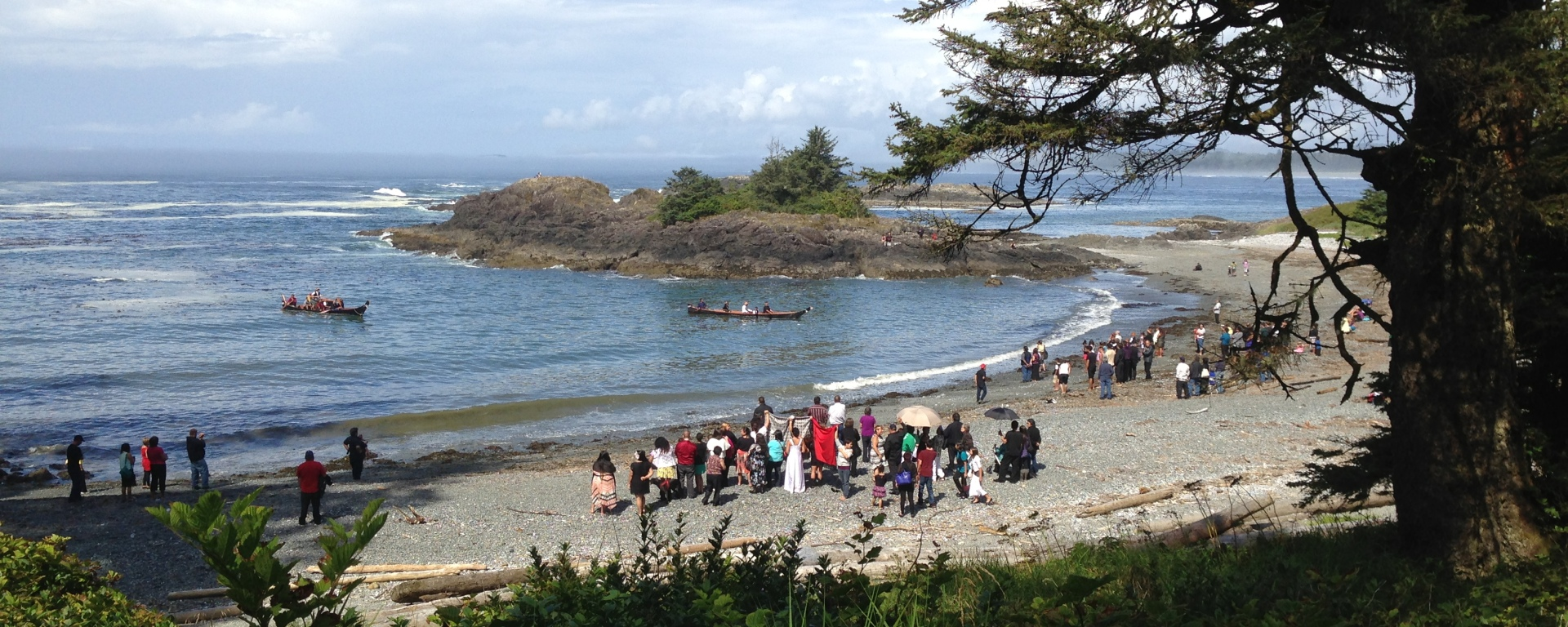 First Nation wedding at beach
