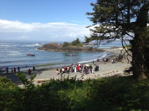 First Nation wedding at beach