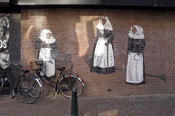 Foto 'Muurschildering Begijnenhofstraat Sittard door FaceMePLS onder CC BY 2.0