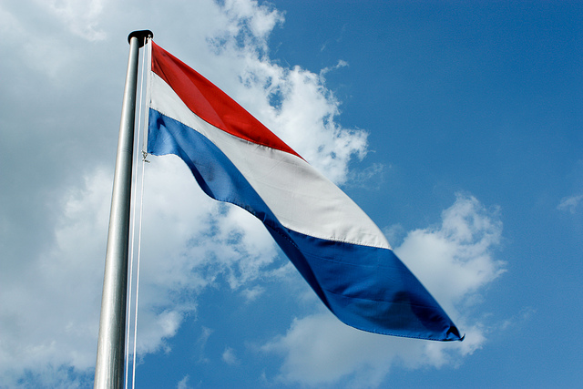 Flag of the Netherlands by Willem van der Kerkhof under CC BY 2.0 license.