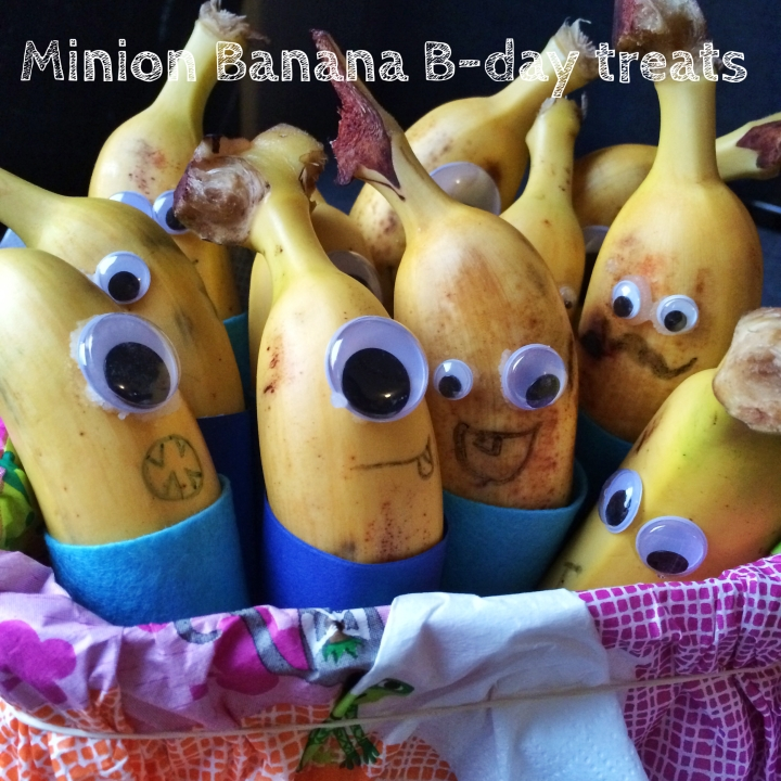 Minion Banana Birthday Treat