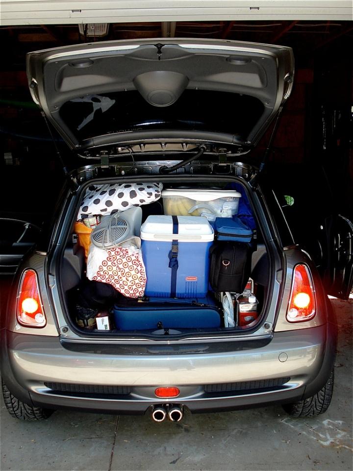 Kofferbak vol met koffers