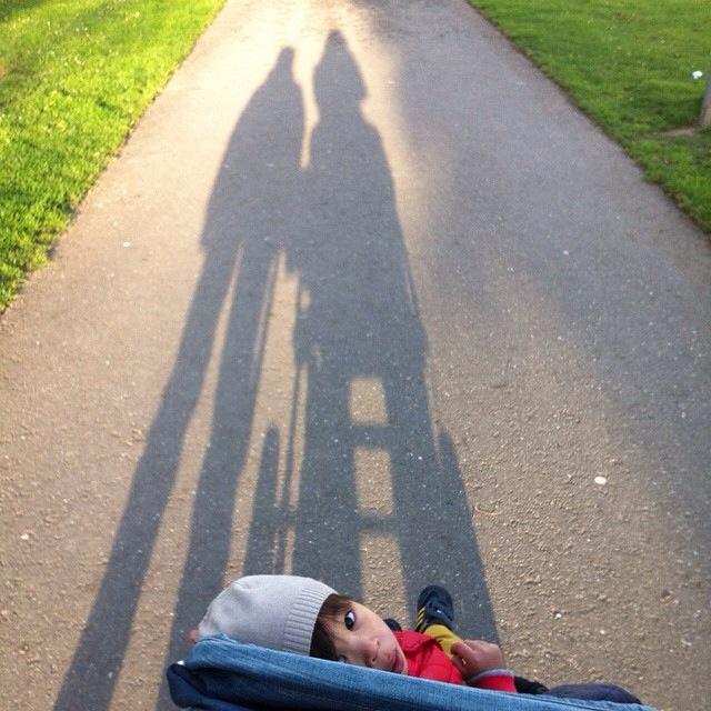 kinderwagen schaduw