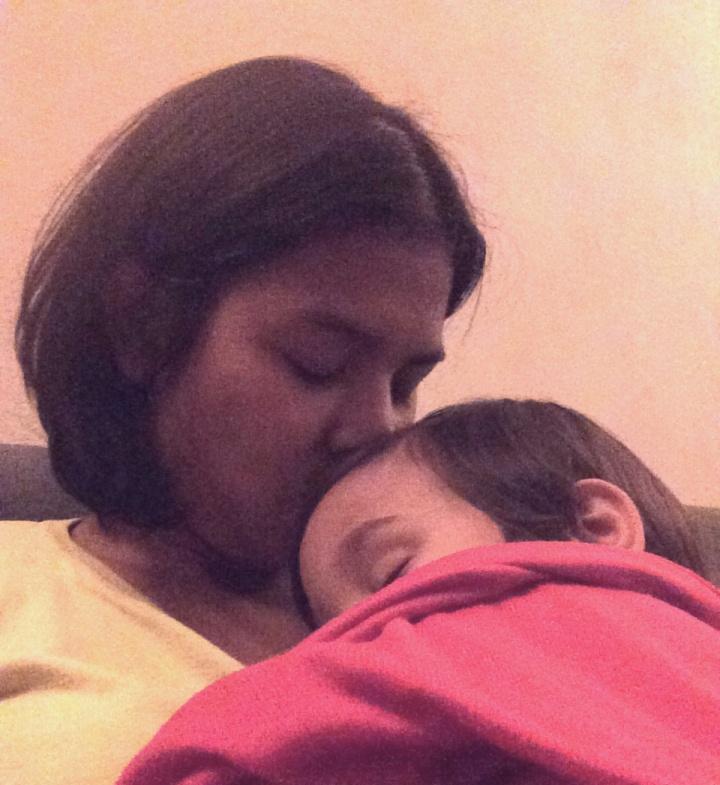 moeder met ziek kind