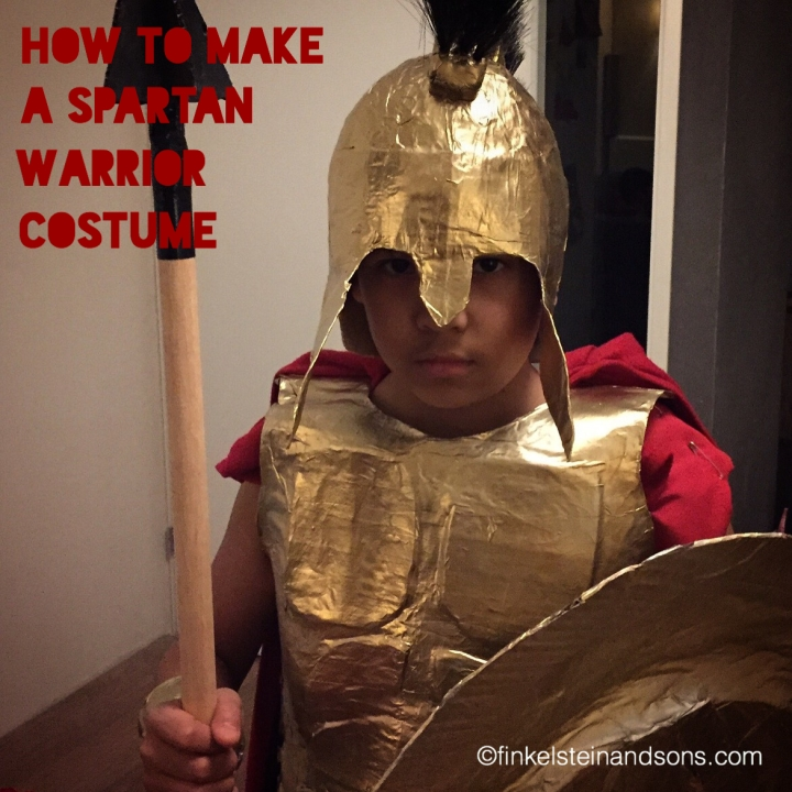 How to make a Spartan warrior costume