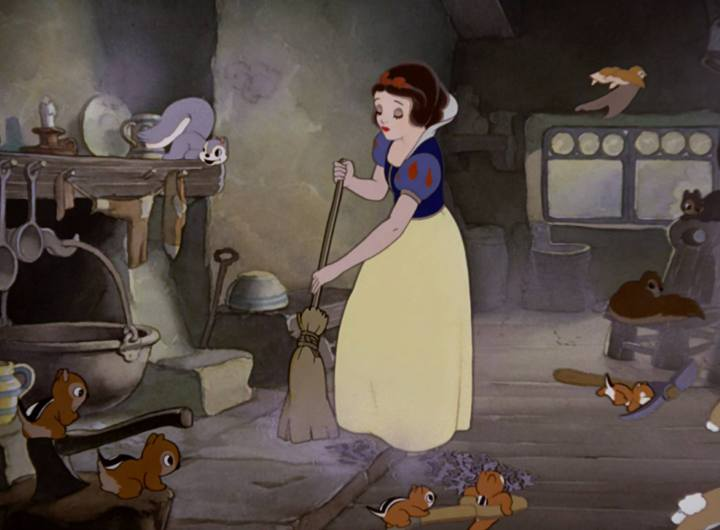 Snow white cleaning