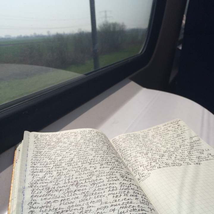 Note book in the train