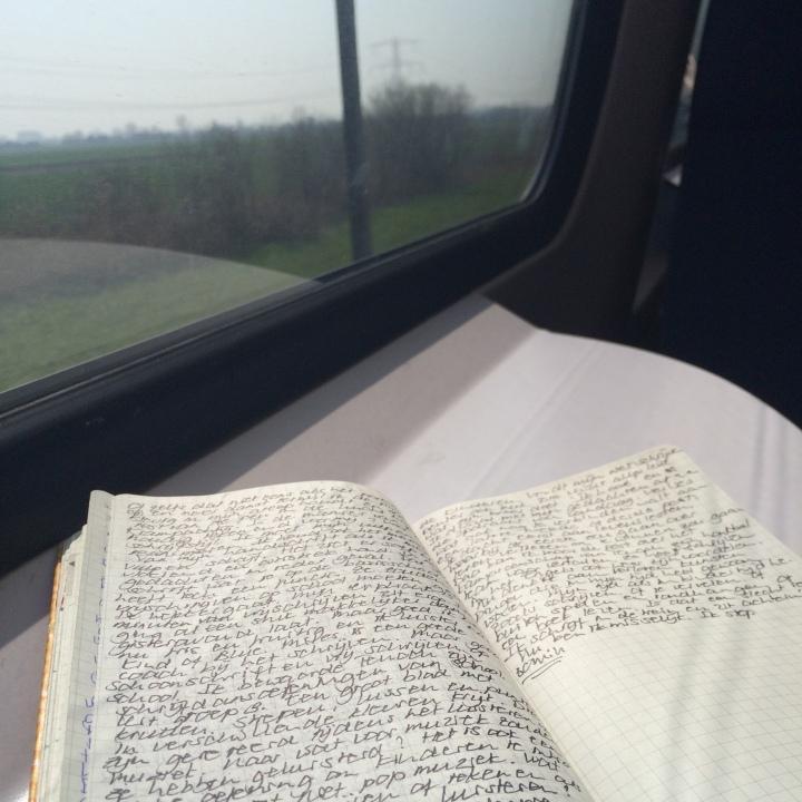 Note book in the train