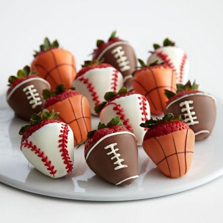 De ballen aardbeien