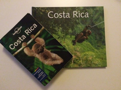 travel guide book and photo album