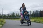 Vaste wielen bij de Bugaboo Runner bieden meer stabiliteit