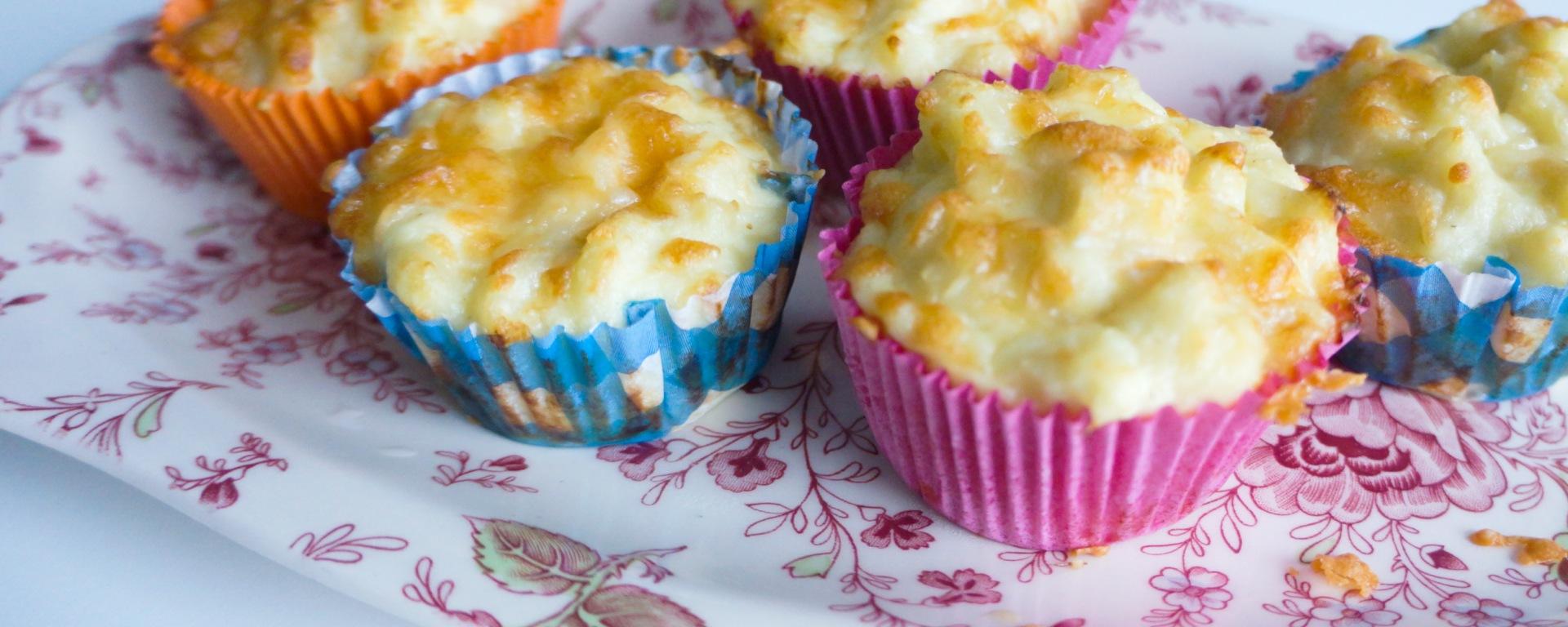 hartige muffins op schaal