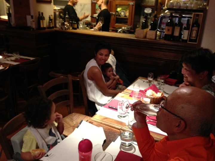 Family dinner at Vineria Il Chianti, Rome