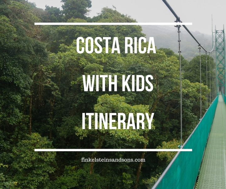 Costa Rica with kids itinerary inspiration