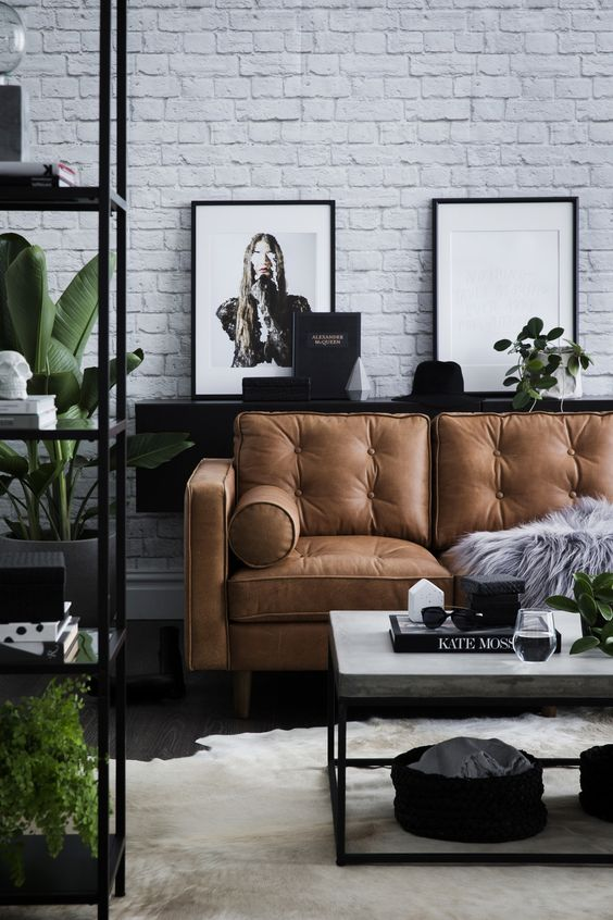 Pinterest of persoonlijk: tan leather sofa