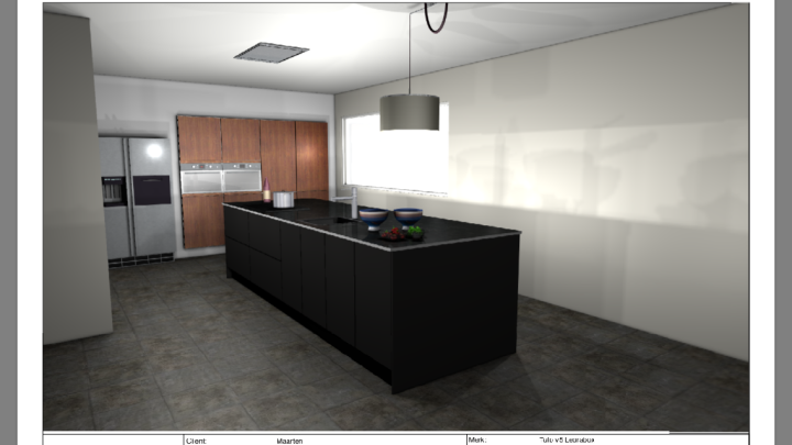 Concept sketch kitchen remodel