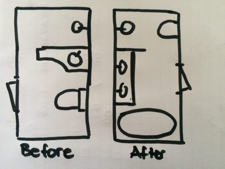 Bathroom lay out plan drawing