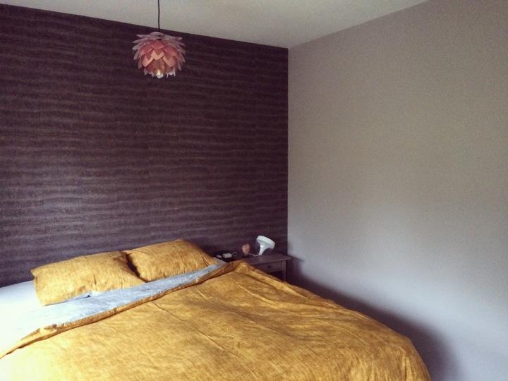 Slaapkamer okergeel