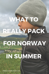 packing list norway summer kids