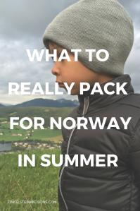 packing list norway summer kids