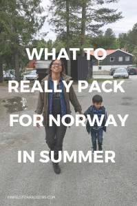 packing list norway summer mom women