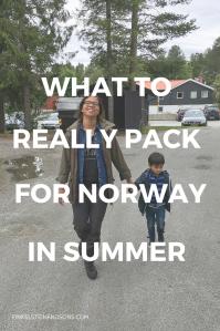 packing list norway summer mom women