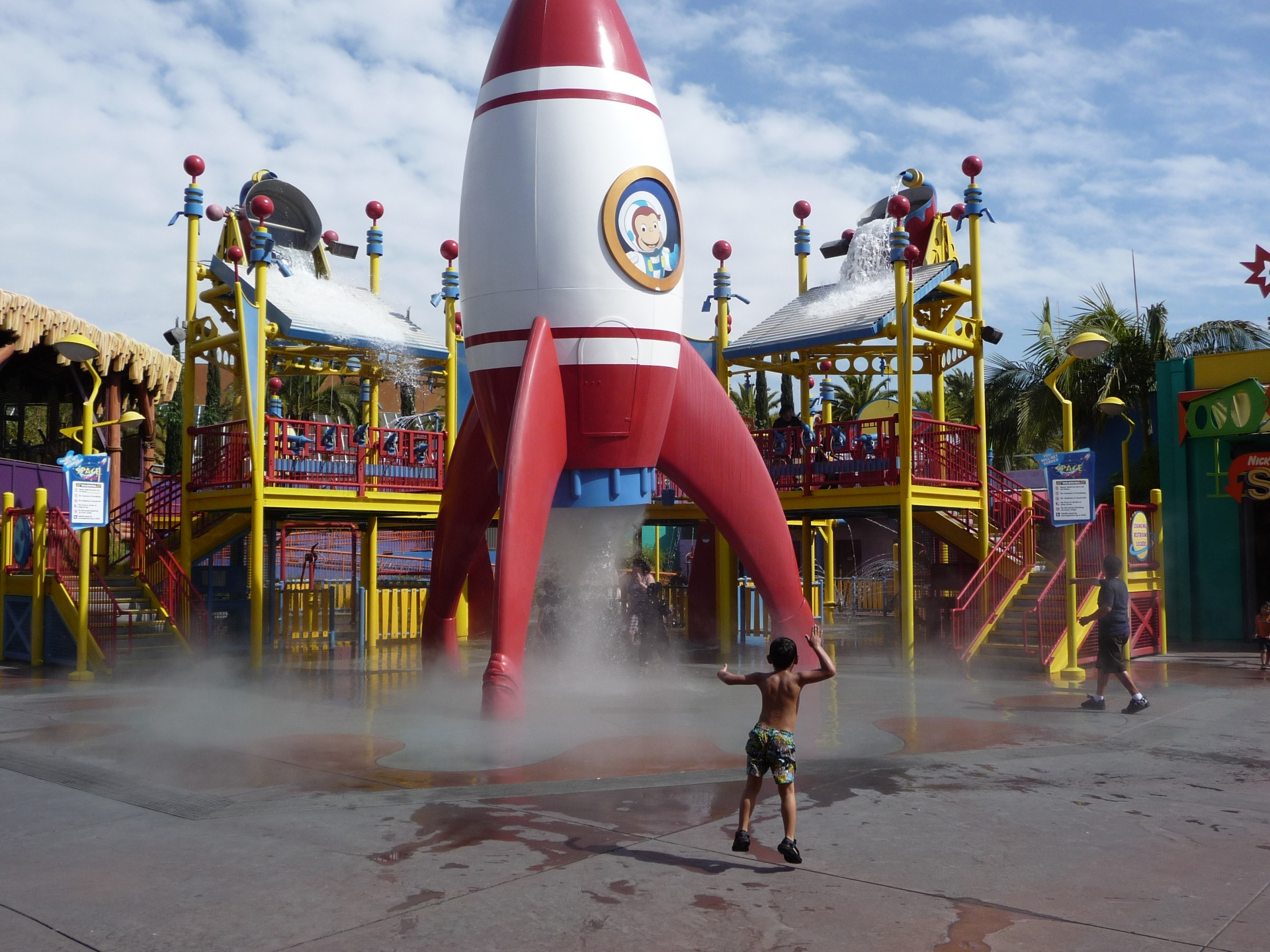 Curious George playground at Universal studios